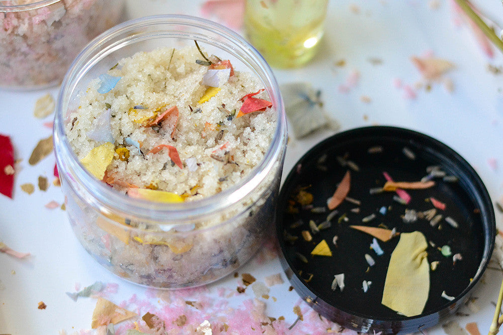 DIY Floral Sugar Scrub with The Confetti Bar