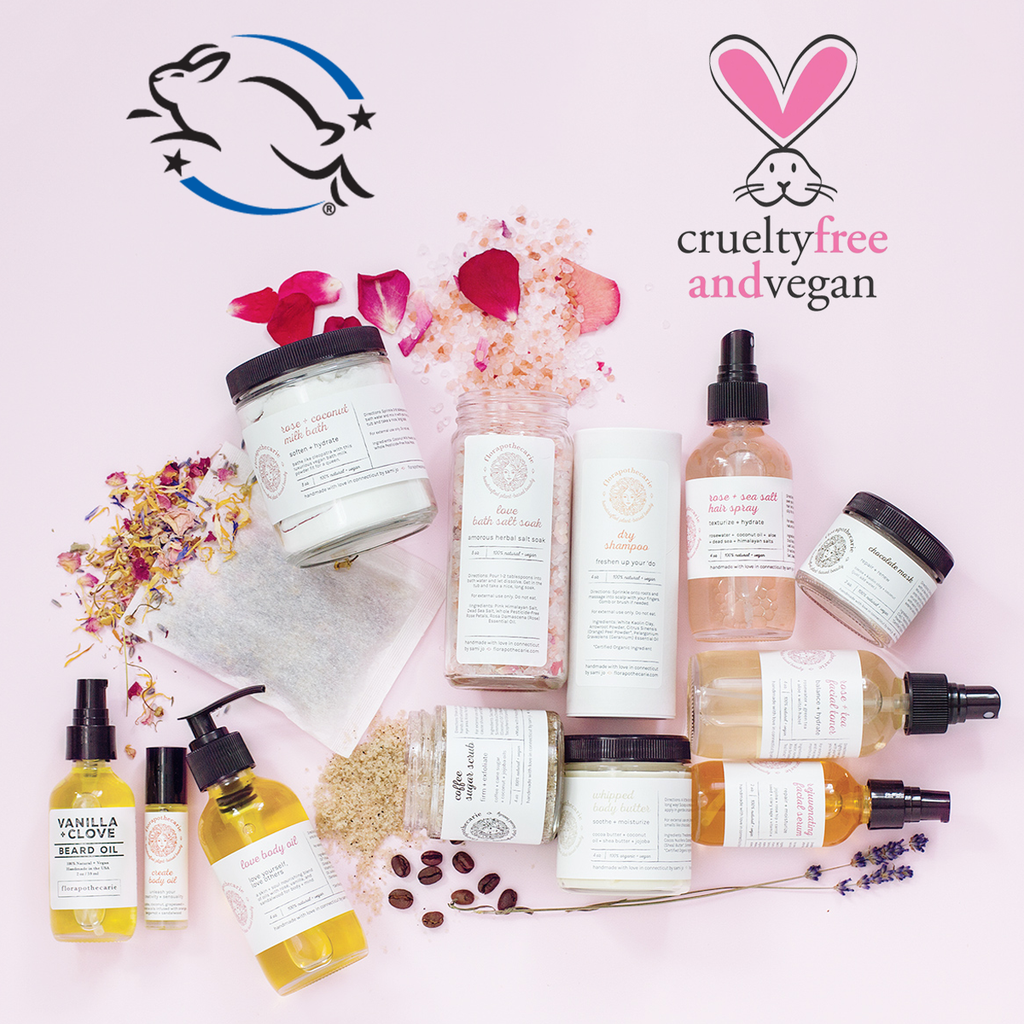 florapothecarie is officially Leaping Bunny and PETA certified as cruelty-free and vegan!