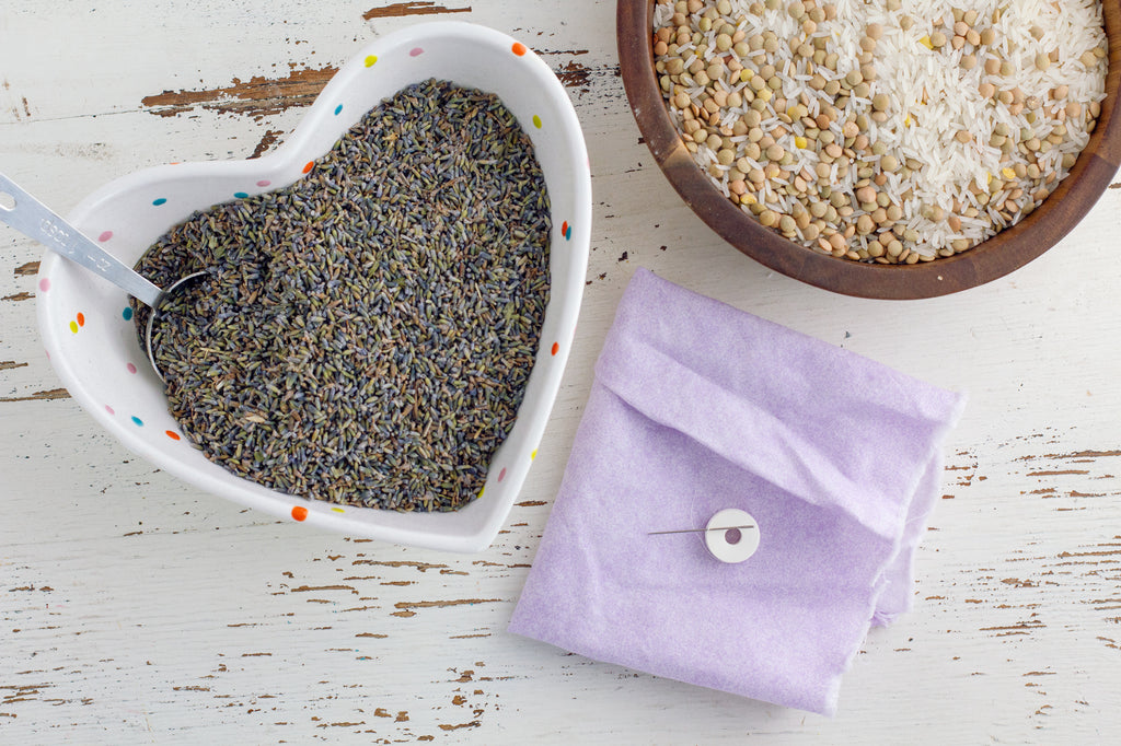 DIY Lavender & Rice Heat Pack