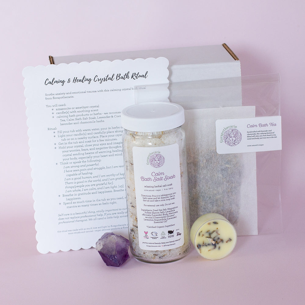 Calming & Healing Crystal Bath Set