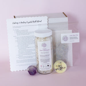 Load image into Gallery viewer, Calming & Healing Crystal Bath Set