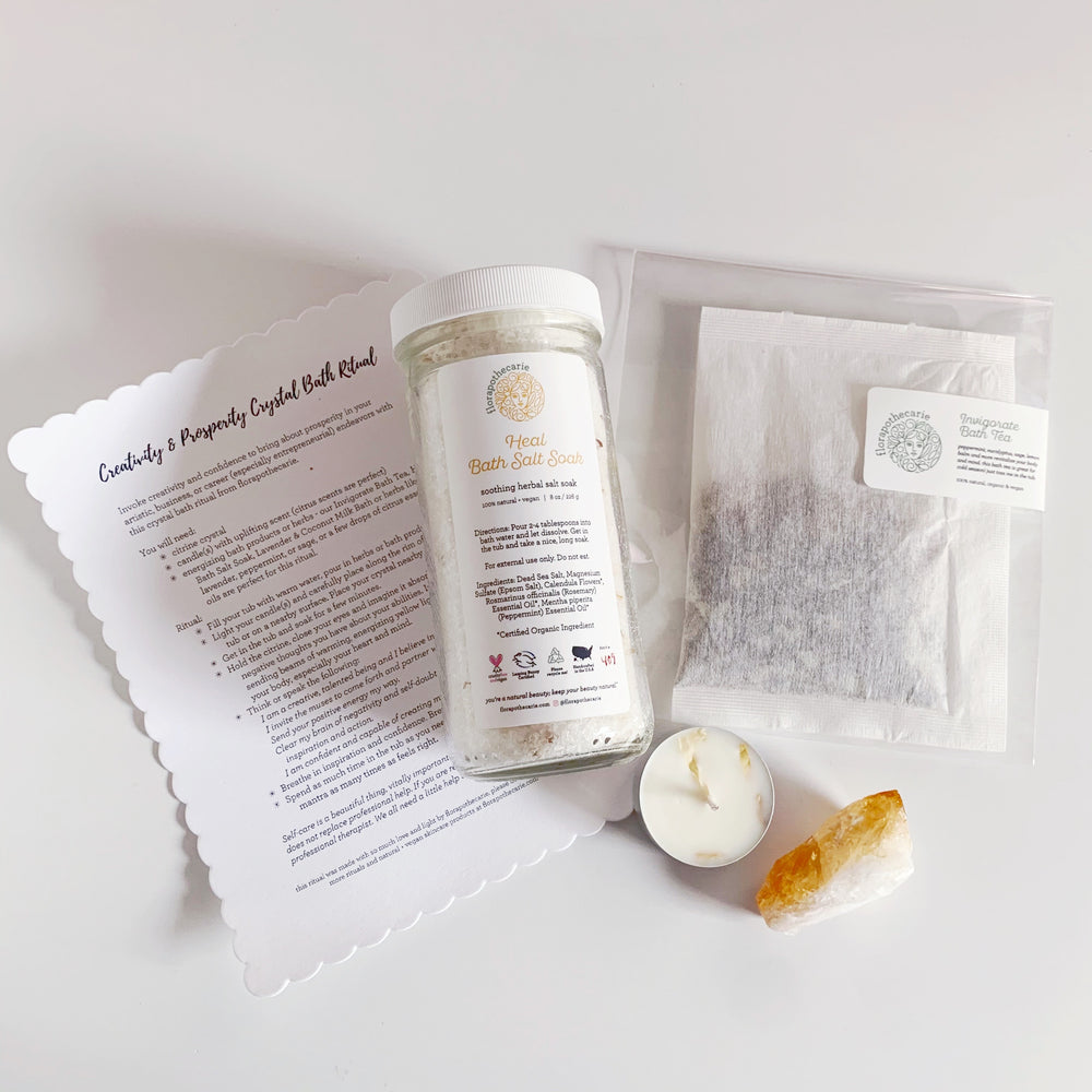 Creativity & Prosperity Crystal Bath Set