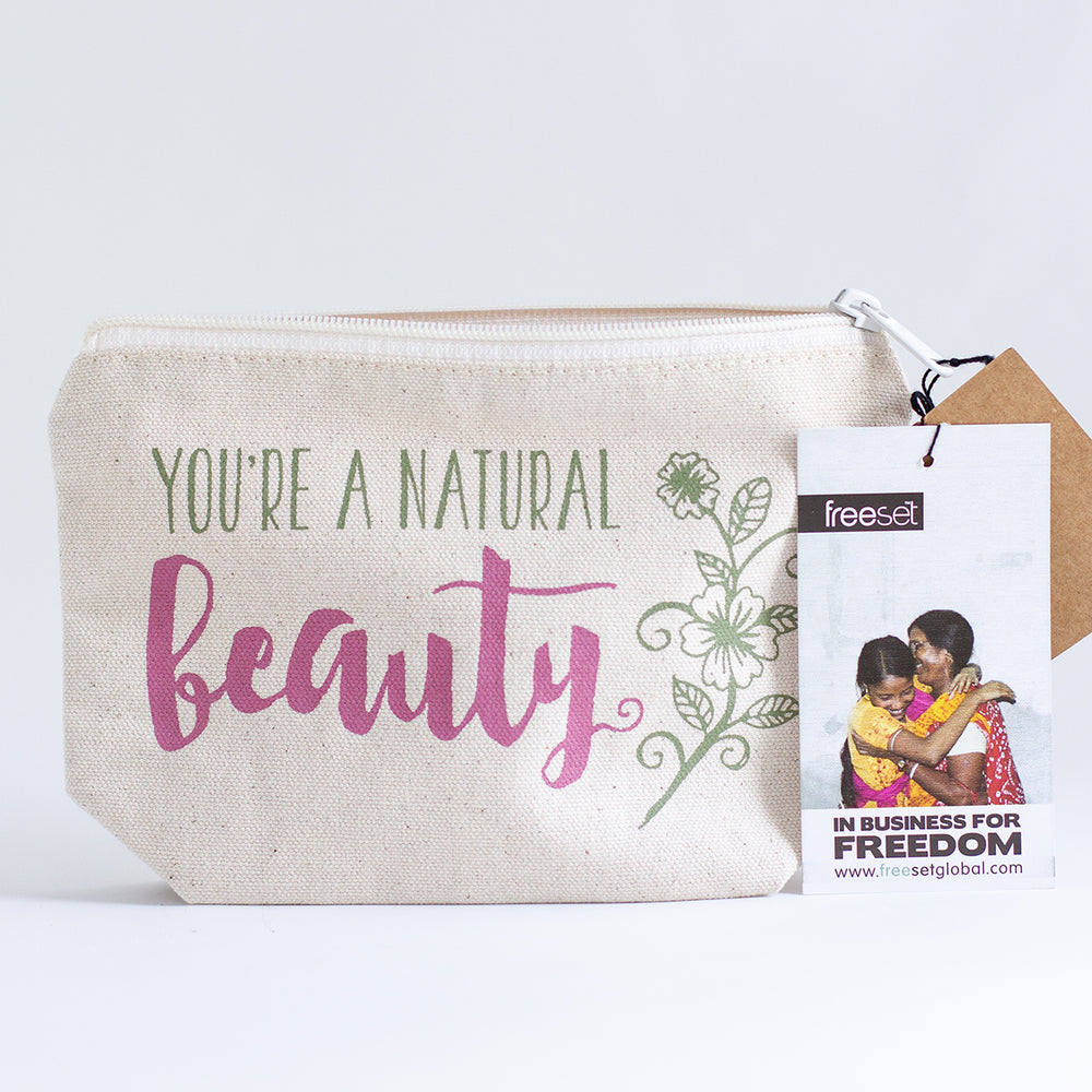 Load image into Gallery viewer, Natural Beauty Cosmetics Bag