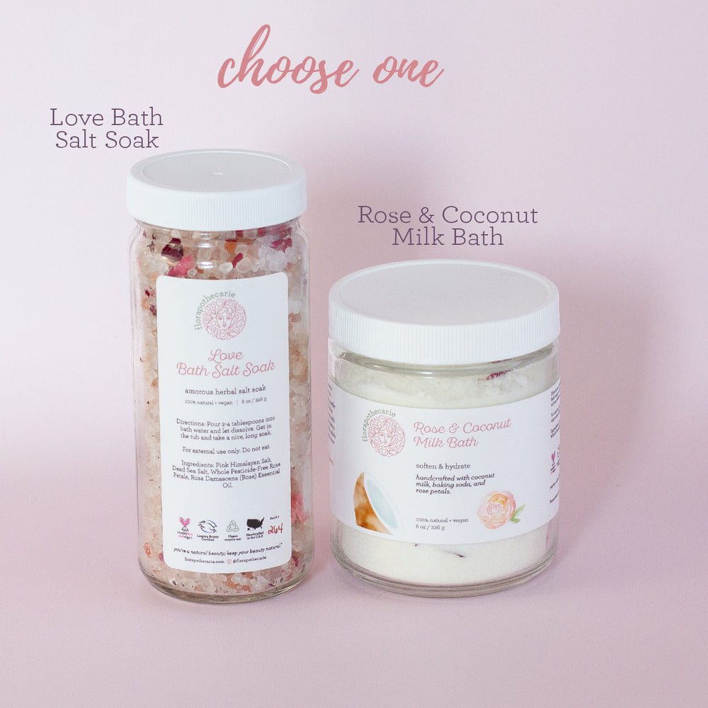 Load image into Gallery viewer, Rose Quartz Radiate Love Bath Set