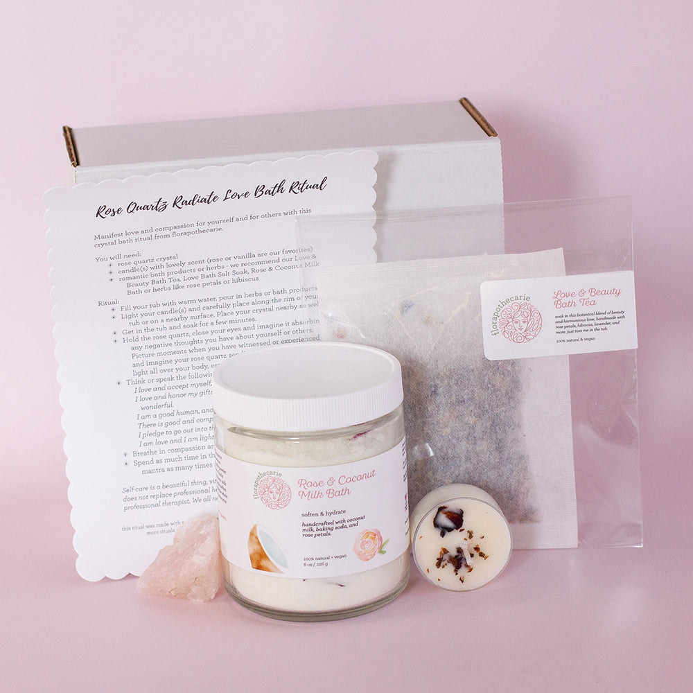 Rose Quartz Radiate Love Bath Set