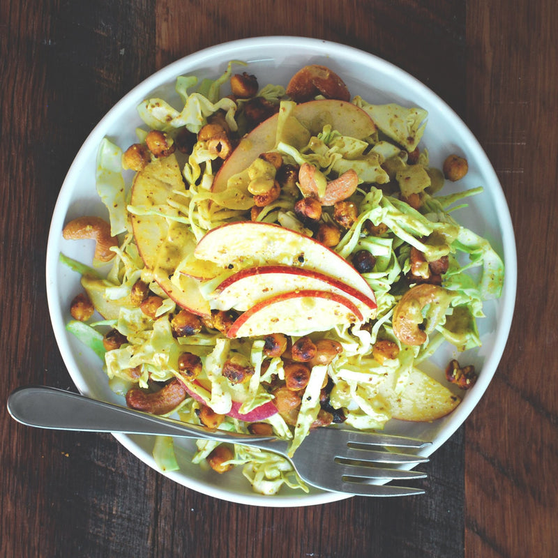 Honey Curry Mustard Slaw