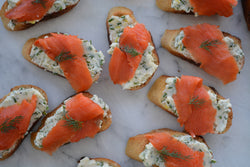 Smoked Salmon on Dijon-Herb Butter Toast