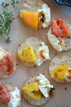 Honey Roasted Feta with Thyme Heirloom Tomatoes