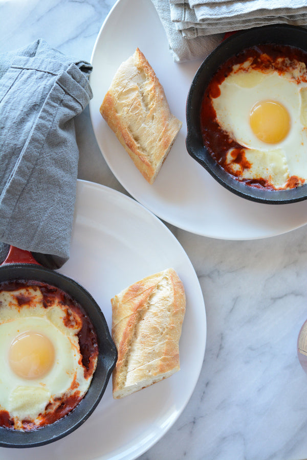Red Chile Baked Eggs