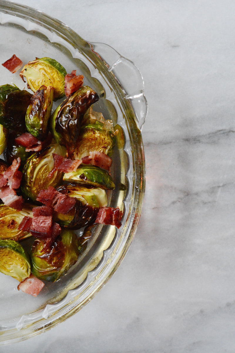 Spicy Shallot Roasted Brussel Sprouts