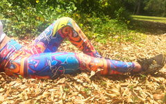 Urban Graffiti Brazilian Lycra leggings