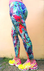 Splash Brazilian Lycra leggings