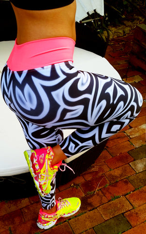 Zebra Brazilian Lycra leggings