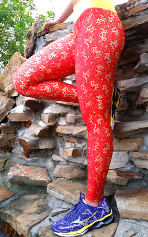 Red Dragon Brazilian Lycra leggings