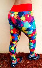 Paint Splash Brazilian Lycra leggings