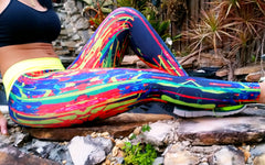 Neon Stripes Splash Brazilian Lycra leggings