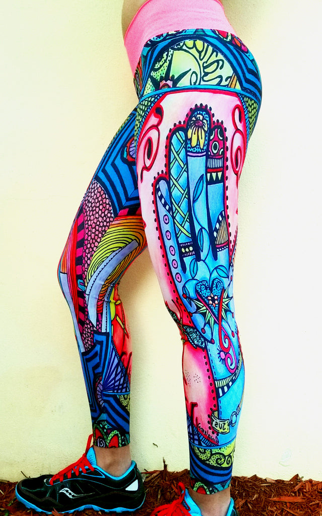 Tribal Splash Brazilian Lycra leggings