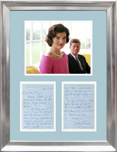 Jacqueline Kennedy Signed Display