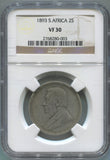 1893 South Africa 2 Shillings, NGC VF30. Key Date