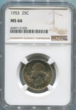 1953 United States Washington Quarter 25C. NGC MS66