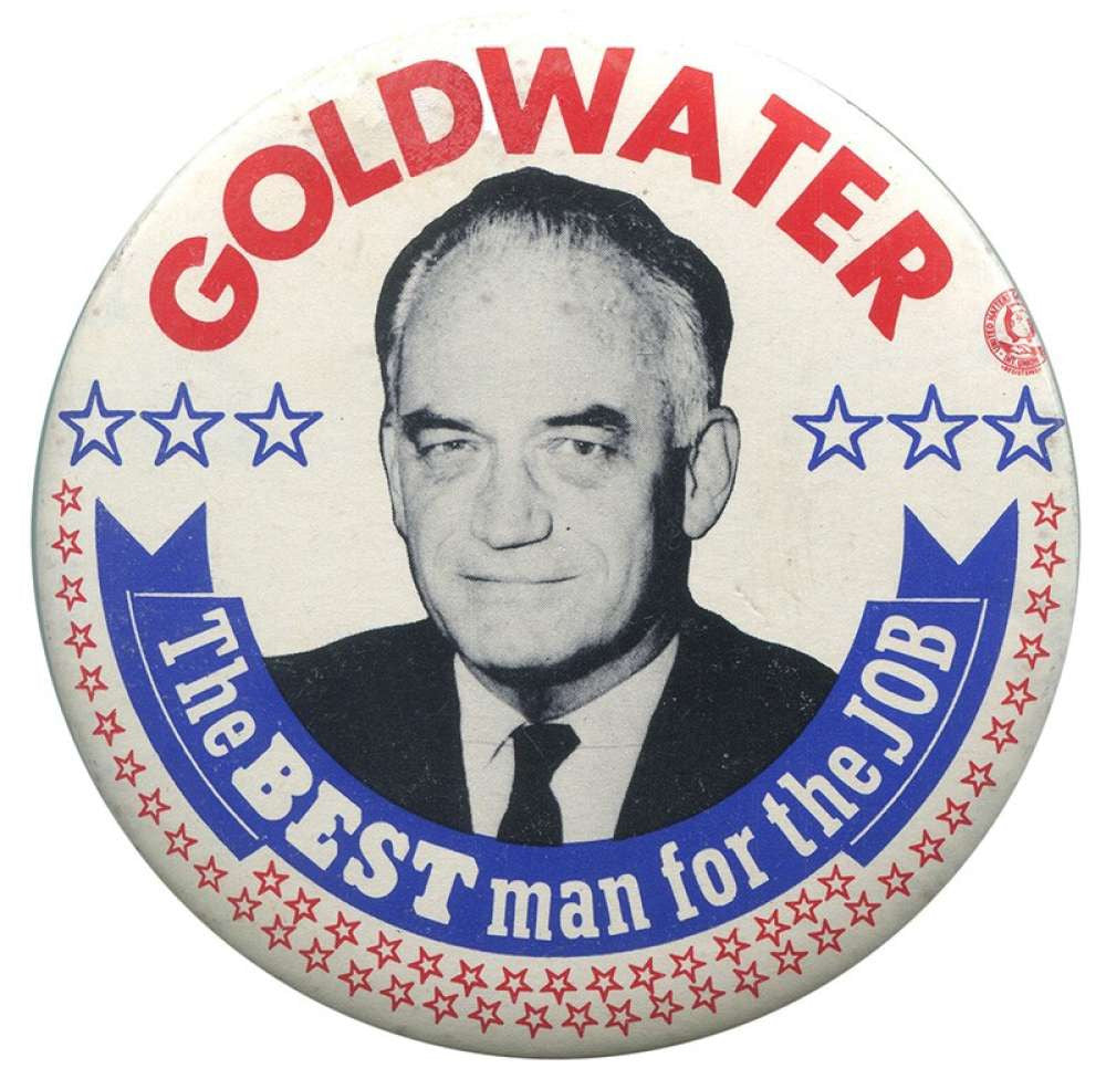 "Barry Goldwater ""Best Man"" Pin.1964"