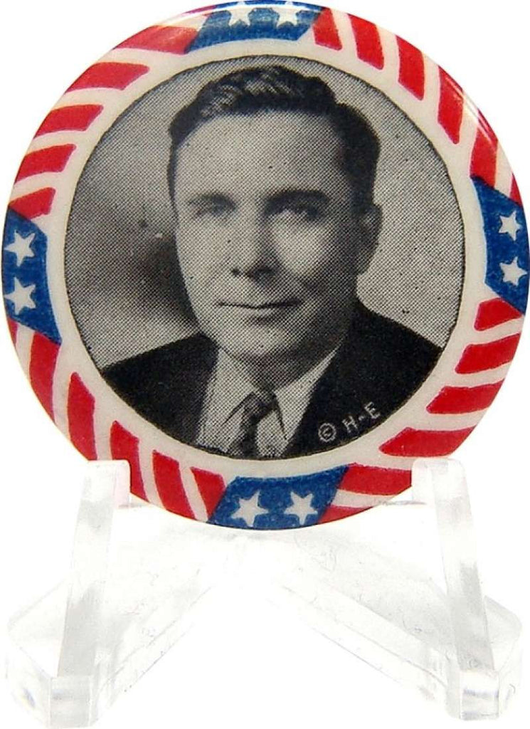 Wendell Willkie Stars and Stripes Pin. 1940