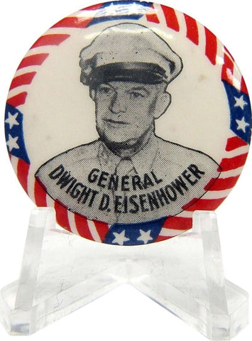 Dwight D. Eisenhower Stars and Stripes Pin. 1952