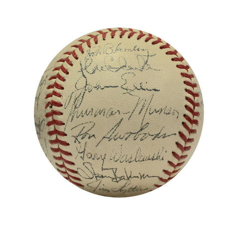 1971 New York Yankees Team Signed Baseball