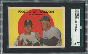 1959 Topps Words of Wisdom #383. Stengel & Larsen. SGC 84 NM 7.