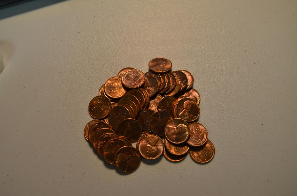 1946 D Roll of Uncirculated Lincoln Cents. 50 Coins. Gem BU