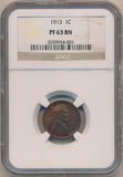 1913 Lincoln Wheat Cent, NGC PF63 Brown