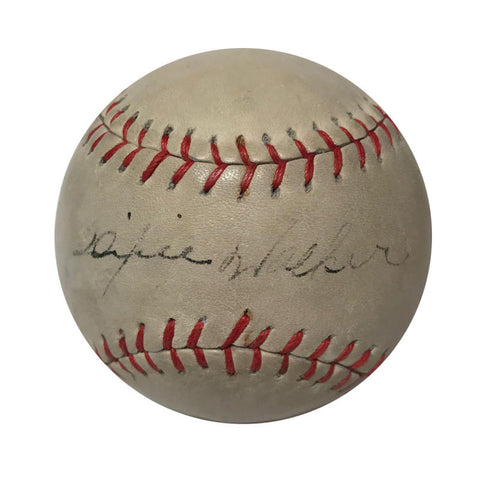 Dixie Walker Rare Single Signed Baseball Circa 1940s. PSA/LOA