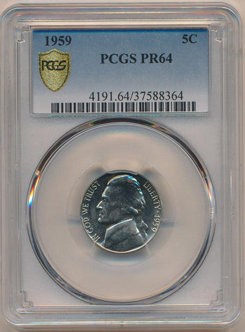 1959 Proof Jefferson Nickel. PCGS PR64