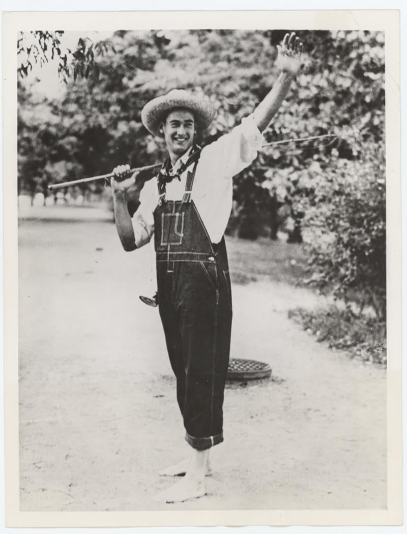 1939 Ted Williams Vintage Rookie Photograph Dressed as Huck Finn, Type III PSA