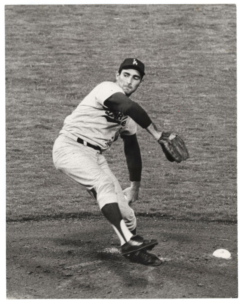1960's Sandy Koufax Vintage Original Photo, LA Dodgers. Type I PSA
