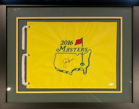 Jack Nicklaus Signed Masters Flag, Framed. Auto JSA