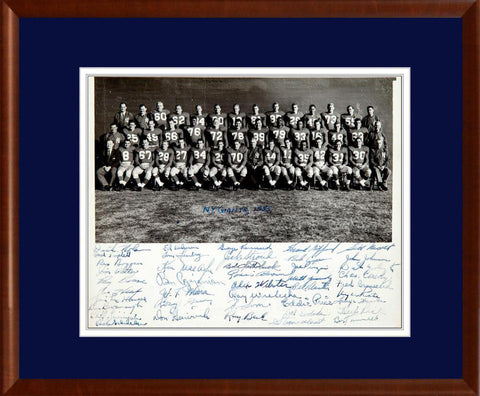 Vintage 1955 New York Football Giants Team Signed Original Photograph - PSA