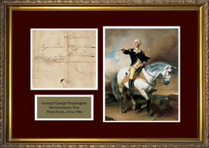 Rare George Washington Autograph, Signed Revolution Free Frank circa 1780. PSA 8