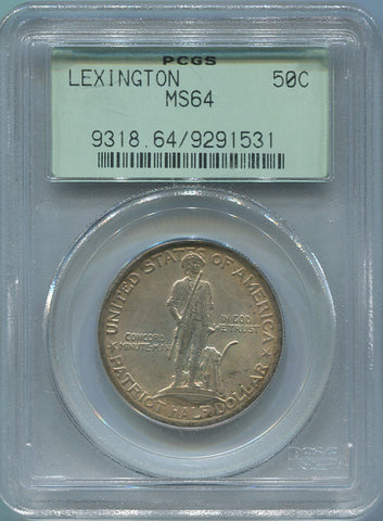 1925 Lexington Commemorative Silver Half Dollar PCGS MS 64