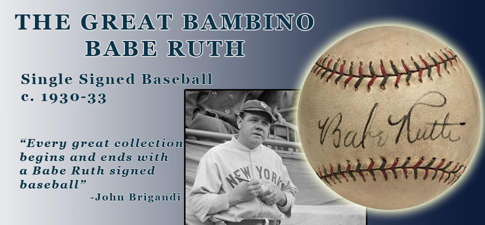 Babe Ruth Single Signed Baseball, circa Early 1930s. Bold Auto, PSA