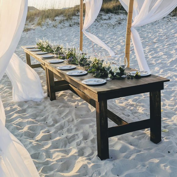 table rentals in panama city florida wedding party event farmhouse table rentals