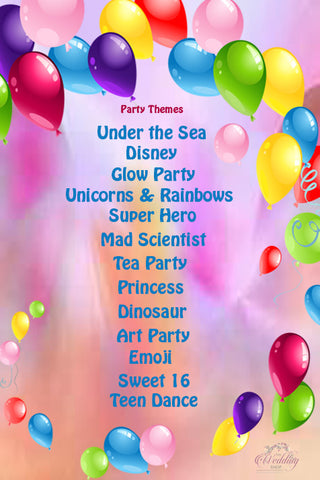 2017 birthday party themes