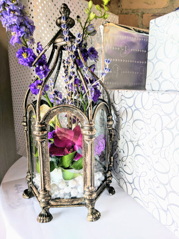 floral birdcage wedding decor