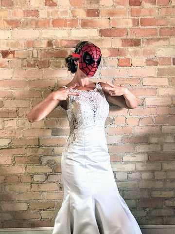 Spider bride photo booth