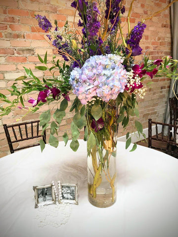 lavender wedding floral centerpiece