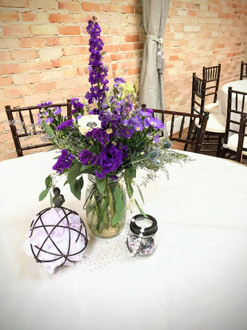 lavender wedding decor centerpiece flowers