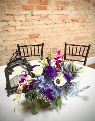 lavender wedding decor flowers centerpiece