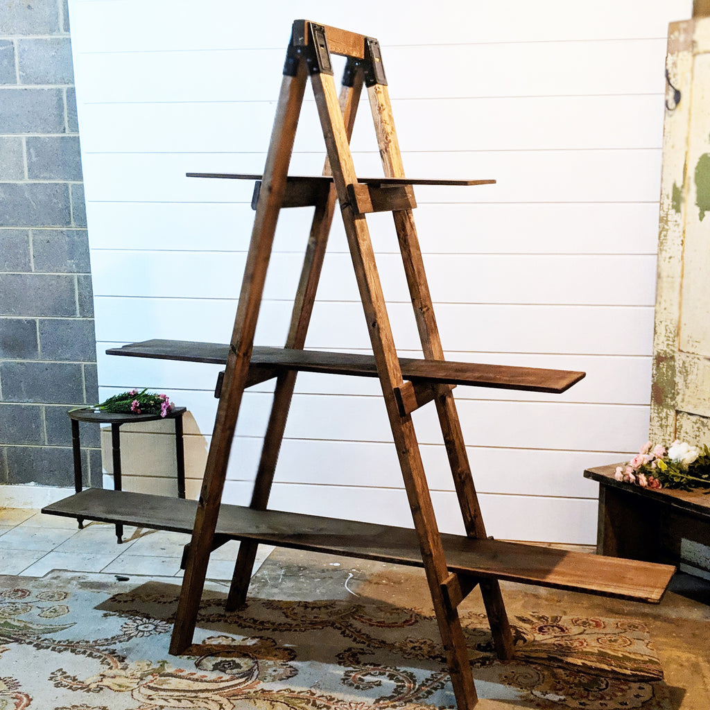 Wood Ladder Display Shelf The Wedding Shop