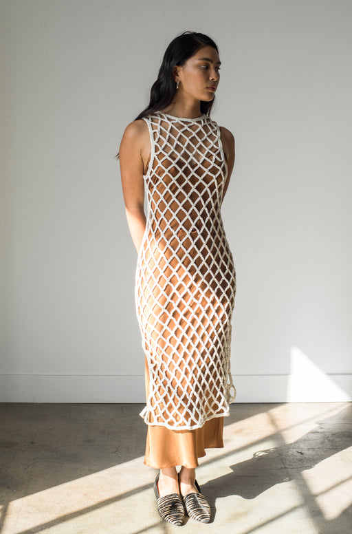 Almora Crochet Dress - Natural