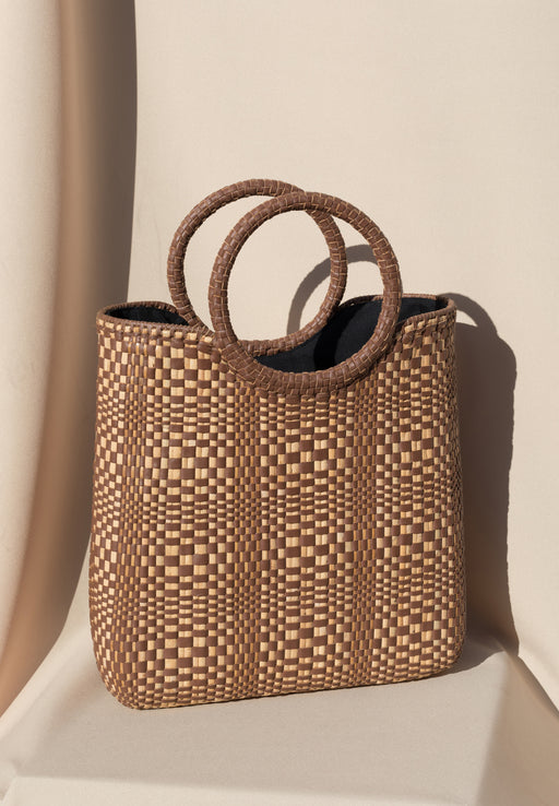 Hydra Woven Bag - Saddle